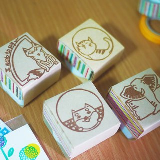 Hand carved rubber stamp _ animals Comments section (unit: 1)