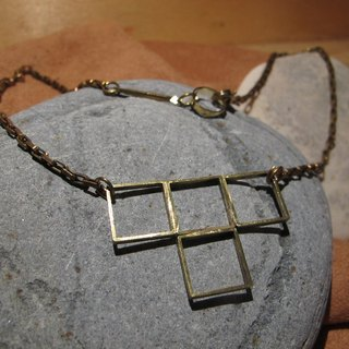 Convex convex / handmade brass necklace (clavicle practice)