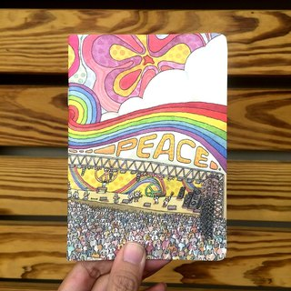 A6 Notebook | Rabbit Music Festival Peace
