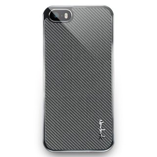 iPhone5 / 5s glass protection back cover - dark gray