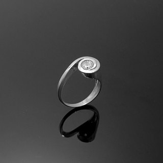 Handmade / 5mm single diamond ring designer models / 925 Silver