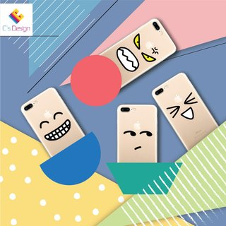 Custom emoticon transparent Samsung S5 S6 S7 note4 note5 iPhone 5 5s 6 6s 6 plus 7 7 plus ASUS HTC m9 Sony LG g4 g5 v10 phone shell mobile phone sets phone shell phonecase