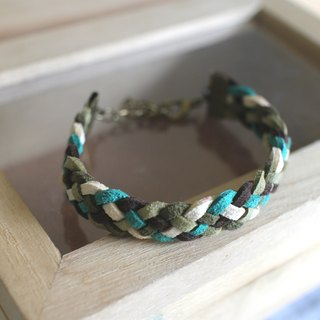 hand made bracelet-- korean synthetic leather【Green tea brownie】