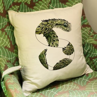 [S] nake Snake: hand-painted letters pillow