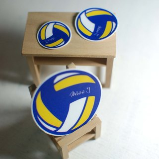 Dynamic blood volleyball sticker / waterproof stickers