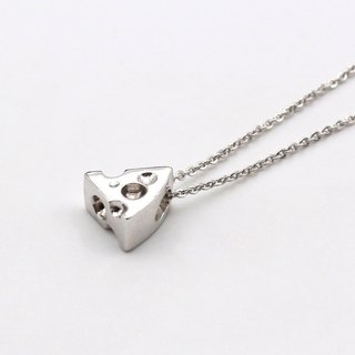 Cheese Silver Necklace