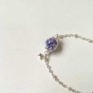 *Haku‧Neko*lavender garden - mixing glass beads purple bracelet Stars