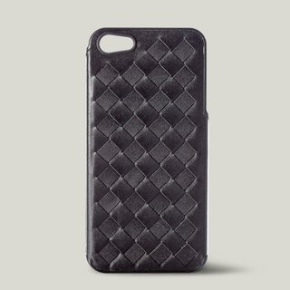 [Price Down Price Drops ↓] ivicase - iPhone 5 / 5S leather phone case - black [knitting]