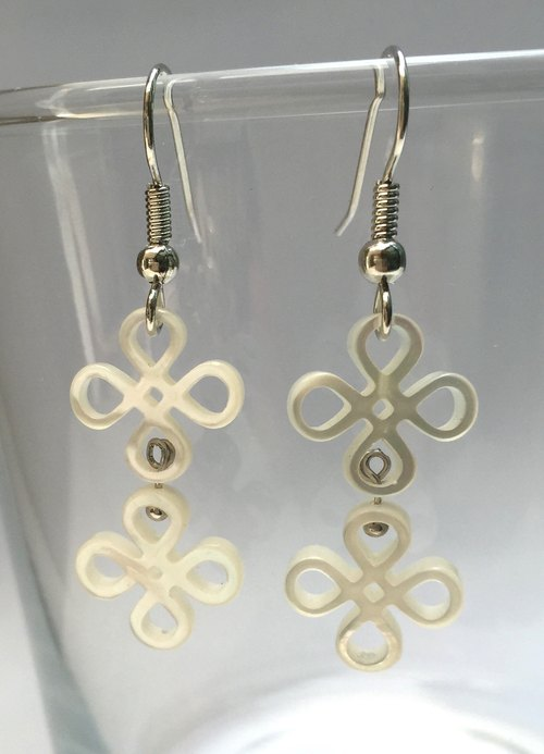 E0294 - own design and manufacture - fashion generous gift of choice - natural gems - pearl earrings