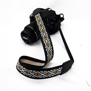 Camera strap can print personalized custom leather stitching national wind embroidery pattern 036