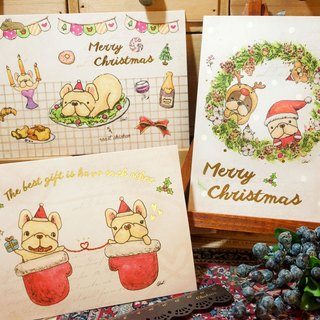 Legal gilding Christmas card - three in combination