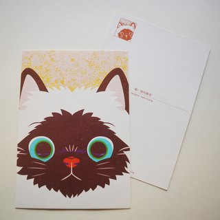 "Postcard printed version: cat - ""! Meow I called Machi"""