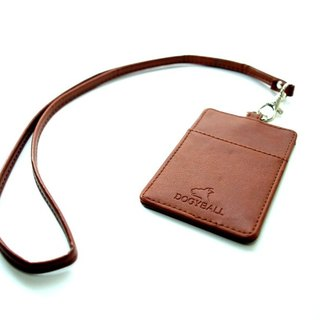 [Dogyball] brand leather jewelry identification card detachable card item set workplace essential simple fashion coffee
