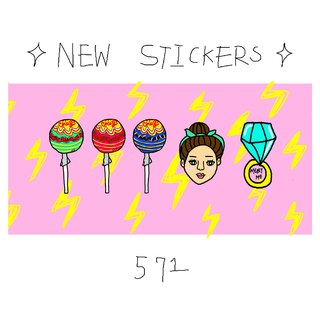 571 new sticker series / lollipops. Beauty. Diamond Rings