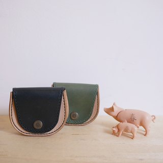 Horseshoe vegetable tanned small purse