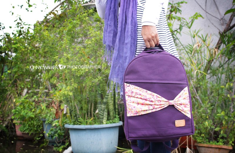 Japan No. 8 canvas series ~ butterfly bow tie backpack