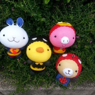 【Happiness 咩 咩 • Hand made shop] cute animal doll key ring ♥ birthdays gift ♥ socks doll ♥ birthday gift