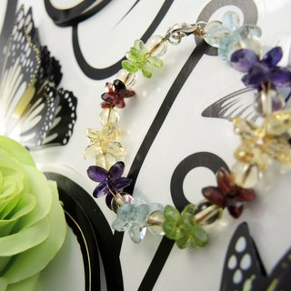 Garden Garden colorful colorful crystal diamond crystal bracelet
