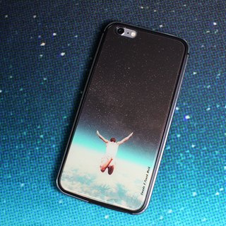 Falling With A Hidden Smile-iPhone Case (i6plus, i6splus, i6+) Replaceable Backplane Metal Frame TPU Double Slim Glossy Hard Shell
