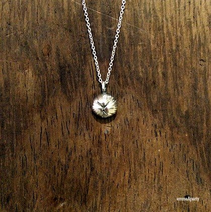 emmaAparty handmade sterling silver necklace ''rabbit nose''
