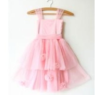 Dolly Rose Garden Dress - soft pink sweetheart