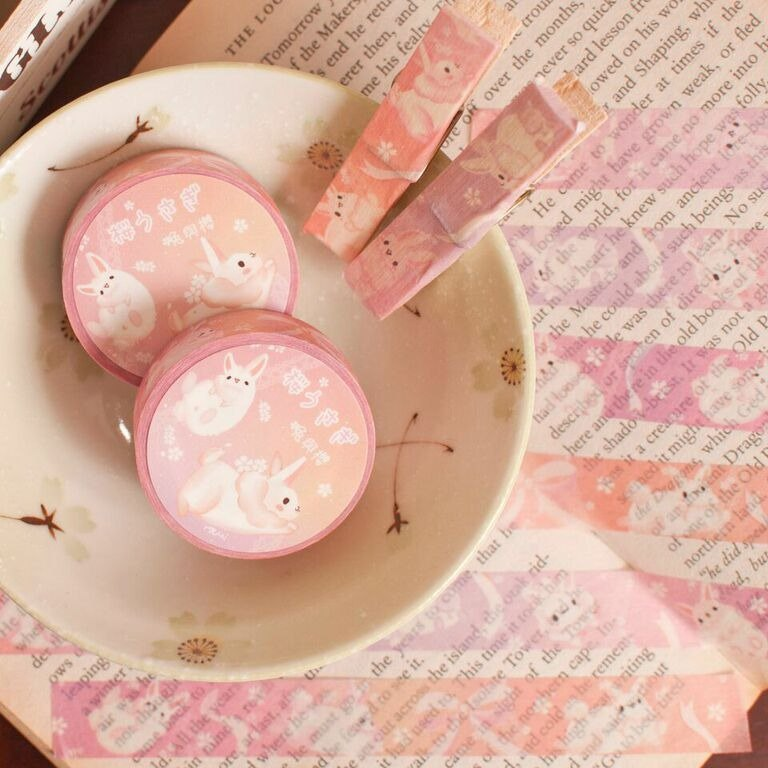 Cherry blossoms x Bunny * Masking tape