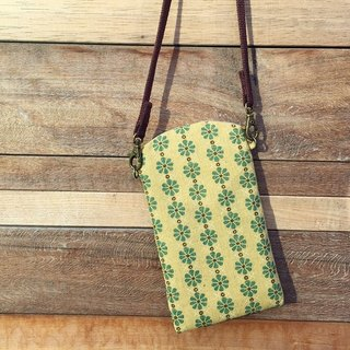 [Birthday / Christmas gift / Mobile phone bag] small simple bag / oblique backpack Matcha Green