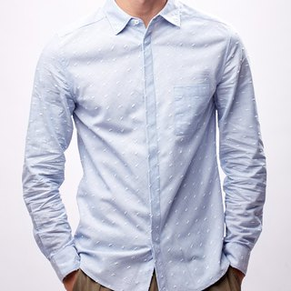Men Slim Fit Shirt (Sky Blue)