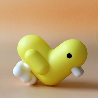Belgian CANAR brand cute heart-shaped ducklings large piggy bank / super healing (normal version of Lyme yellow)