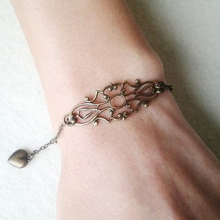 EarringFanatic retro long hollow carved bronze bracelet