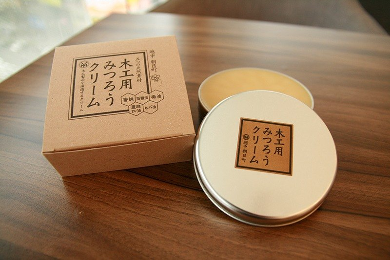 Micro forest Japan imported natural beeswax cream wood products woodworking 200g wood care wood maintenance