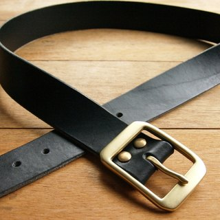 weekenlife - Leather Belt ( Custom Name ) - Gentle Black