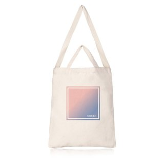 Straight gentle tone canvas bag