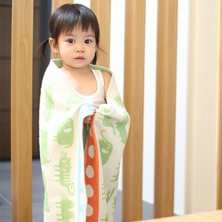 Warm blanket / baby blanket / month indemnity ceremony ► Sweden Klippan Gentle cotton baby blanket - Small Africa (green)