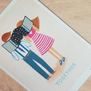 Chienchien - TOGETHER Illustration Postcard / Card