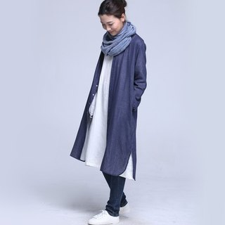 BUFU  the Chinese style oversize long-sleeves cotton shirt   SH140406