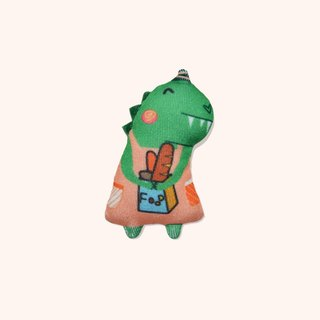 Meng stay dinosaur illustration dyeing cloth brooch handmade brooch exquisite gift tin