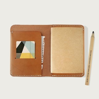 Passport Folder / Notepad / Notepad (with a notebook) -- Camel Yellow