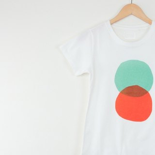INNER | round intersection T-Shirt - milky white (female version) only L No.