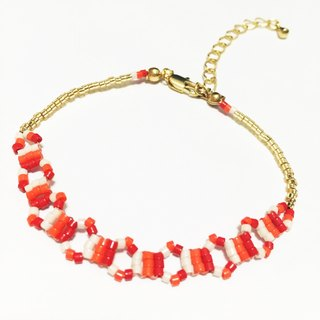 ololssim orange and white circle Ethnic Bracelets