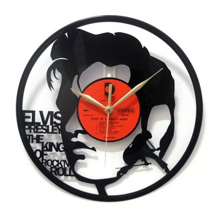 [Time traveler 1888] vinyl clock. Elvis [The King of Rock 'n' Roll]