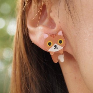 Meow - lazy cat earrings