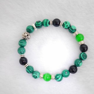 S & amp; A turn green beaded bracelet