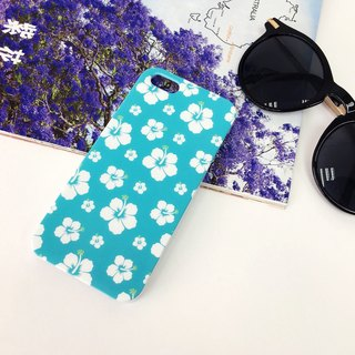 Cyan Aloha Pattern Print Soft / Hard Case for iPhone X,  iPhone 8,  iPhone 8 Plus, iPhone 7 case, iPhone 7 Plus case, iPhone 6/6S, iPhone 6/6S Plus, Samsung Galaxy Note 7 case, Note 5 case, S7 Edge case, S7 case