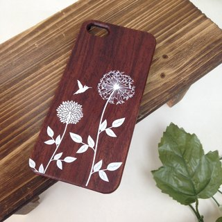Dandelion Real Wood iPhone Case for iPhone 6/6S, iPhone 6/6S Plus