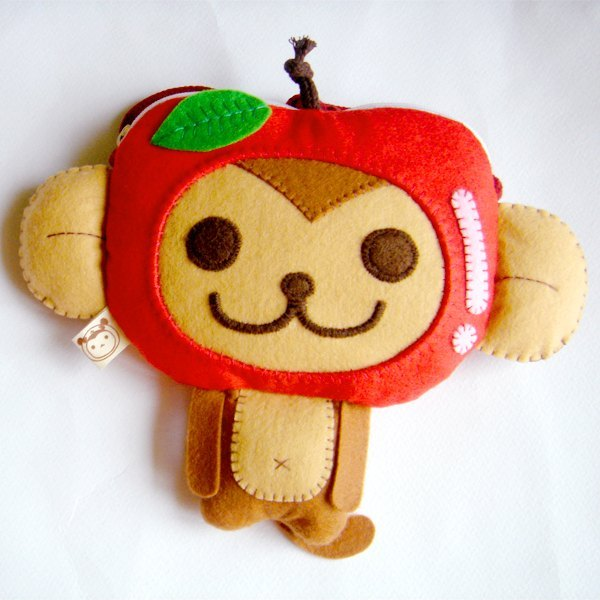 BoSARU Apple Monkey Small Coin Purse