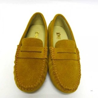 Fort Tony Wang handmade leather shoes (female) [frosted cow / bean bottom / yellow brown]