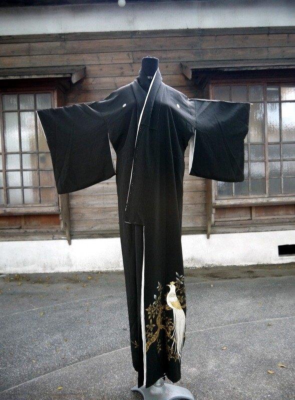 日本 白鳳凰 華麗古董和服