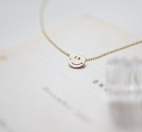 Gold necklace ◊ Always happy smile