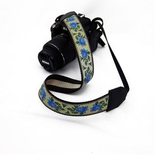Camera strap can print personalized custom leather stitching national wind embroidery pattern 007